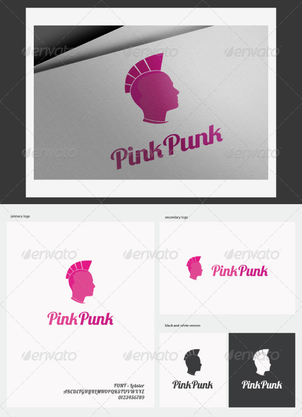 GraphicRiver Pink Punk Logo 2809062
