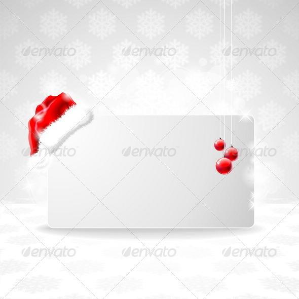 Vector illustration on a Christmas theme with Sant - Christmas Seasons/Holidays