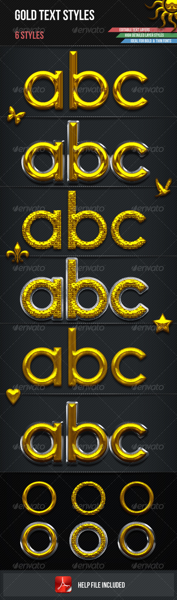 GraphicRiver Gold Text Styles 2793386