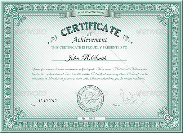 GraphicRiver Detailed certificate 2809207