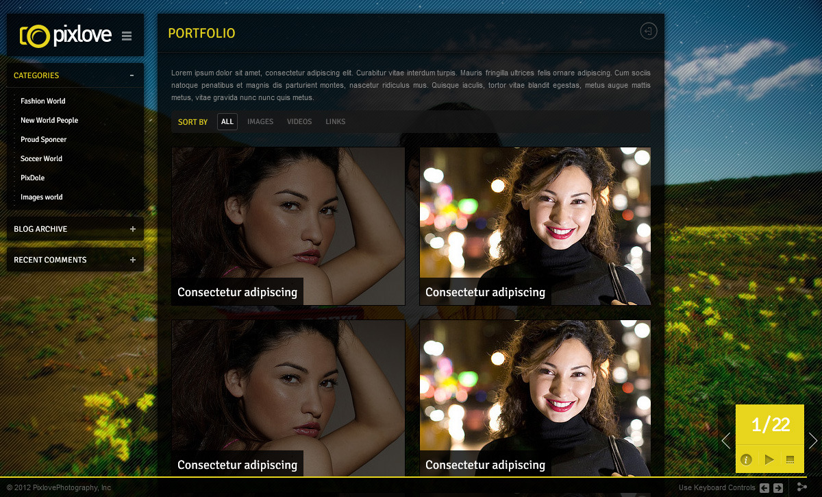 Pix Love - Photography Template