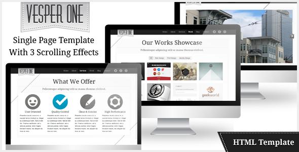 Vesper One Page HTML Business Creative Portfolio