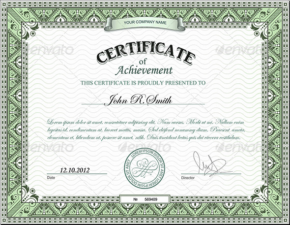 GraphicRiver Detailed certificate 2809231