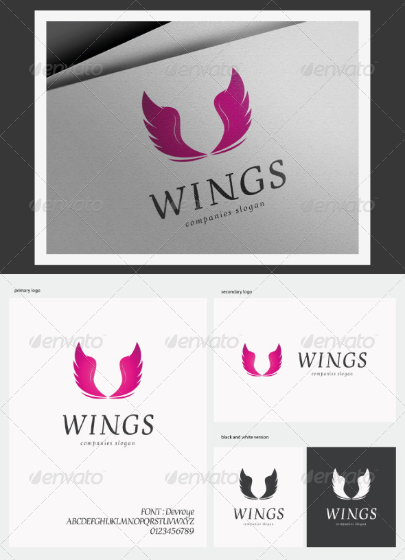 Wings Logo - Animals Logo Templates
