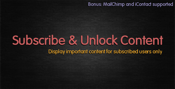 CodeCanyon Subscribe to Unlock Content 2809912