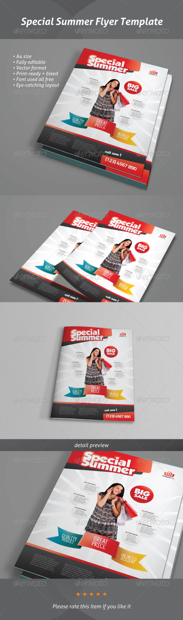Special Summer - Modern Corporate Flyer - Commerce Flyers