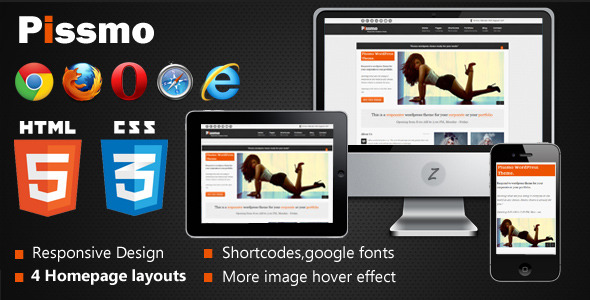 Pissmo Clean Responsive HTML5 Template