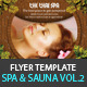 Spa & Sauna Flyers PSD Template - Vol.2