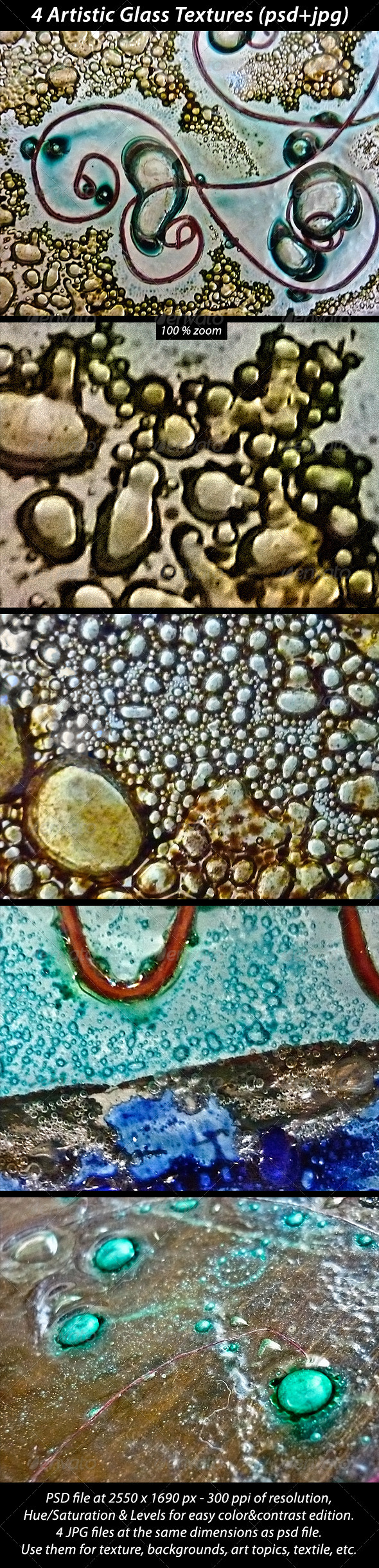 4 Artistic Glass Textures