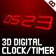 3D Digital Clock / Timer - ActiveDen Item for Sale