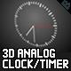 3D Analogue Clock / Timer - ActiveDen Item for Sale