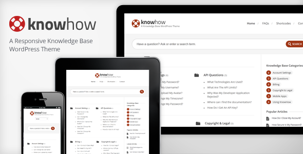 KnowHow - A New Knowledge Base/Wiki Premium WordPress Theme