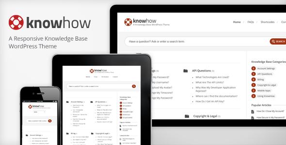 ThemeForest KnowHow A WordPress Knowledge Base Wiki Theme 2813111
