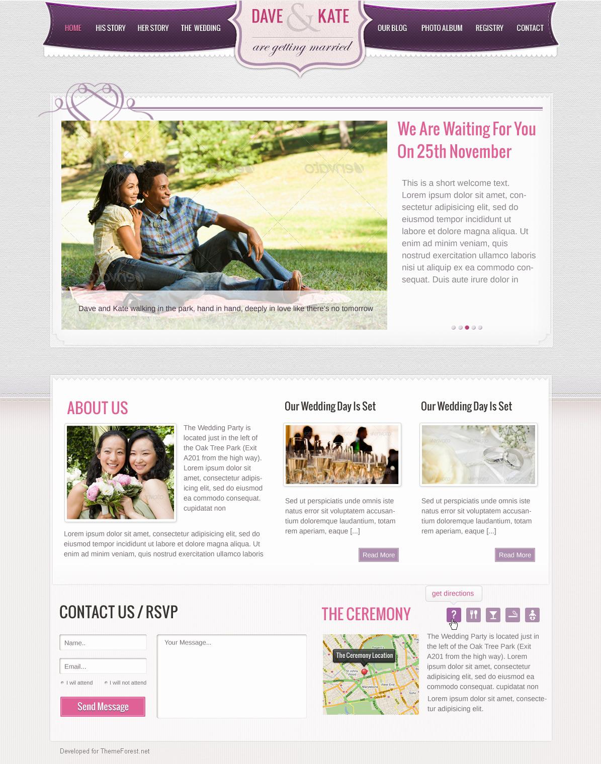 Wedding Day - HTML/CSS