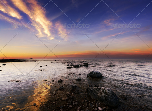 Sunset On  The Lake - Stock Photo - Images