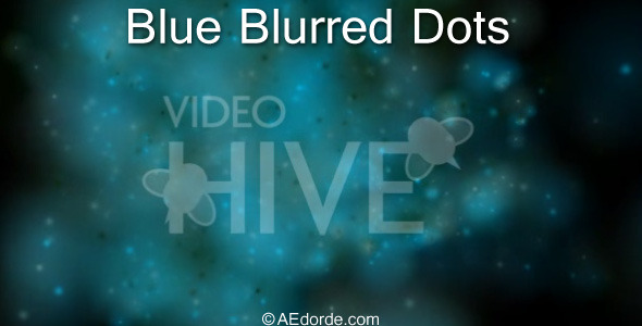Blue blurred dots