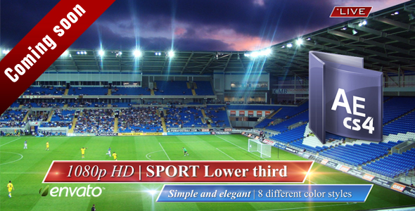After Effects Project - VideoHive Sport Lower third 101364