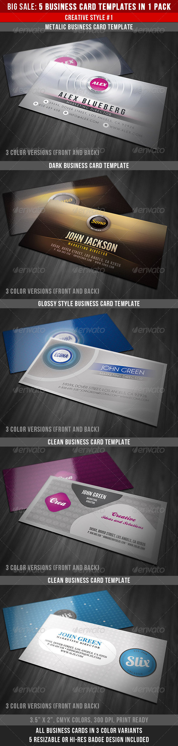 Creative Business Cards Bundle - Creative Business Cards