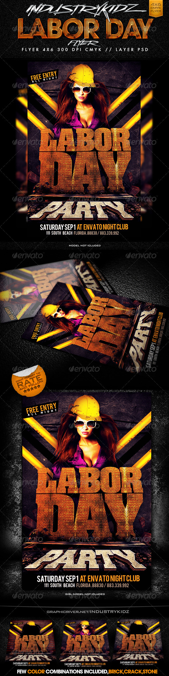 GraphicRiver Labor Day Flyer Template 2815774