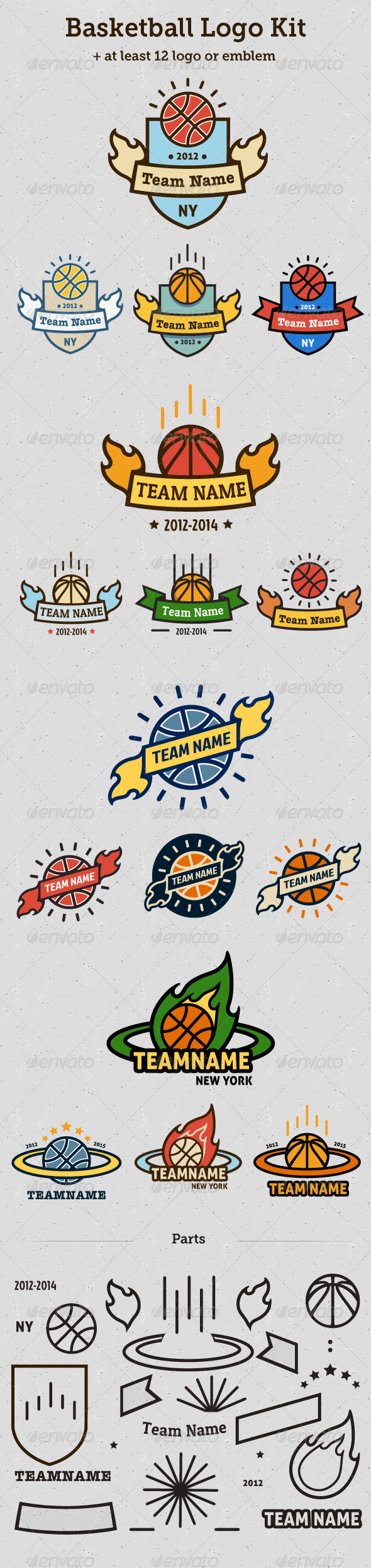 Basketball Logo Kit