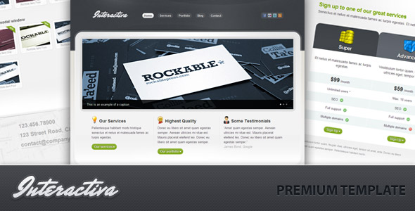 Business and Portfolio - Interactiva Premium - Preview