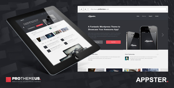 ThemeForest Appster Responsive Business & Portfolio WP Theme 2214314