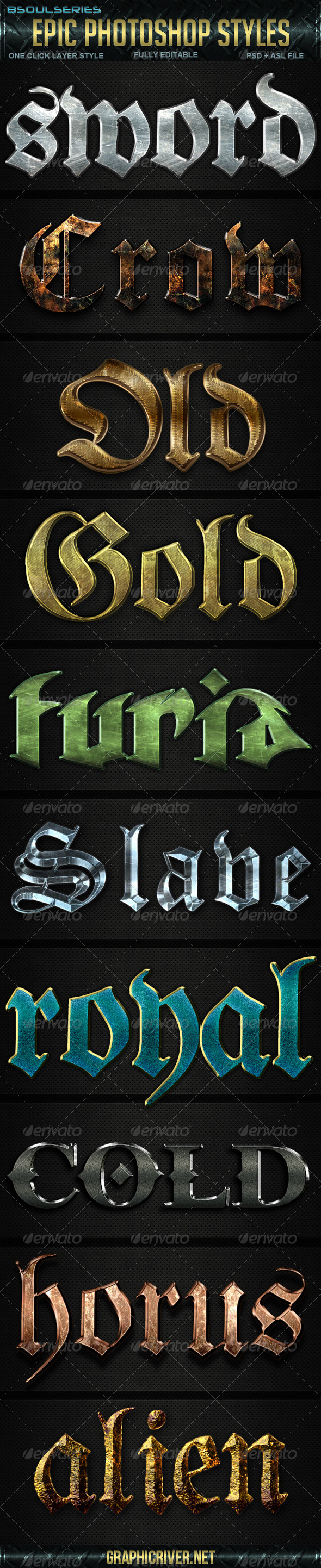 Epic Photoshop Styles - Text Effects Styles