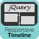 jQuery Responsive Timeline - CodeCanyon Item for Sale
