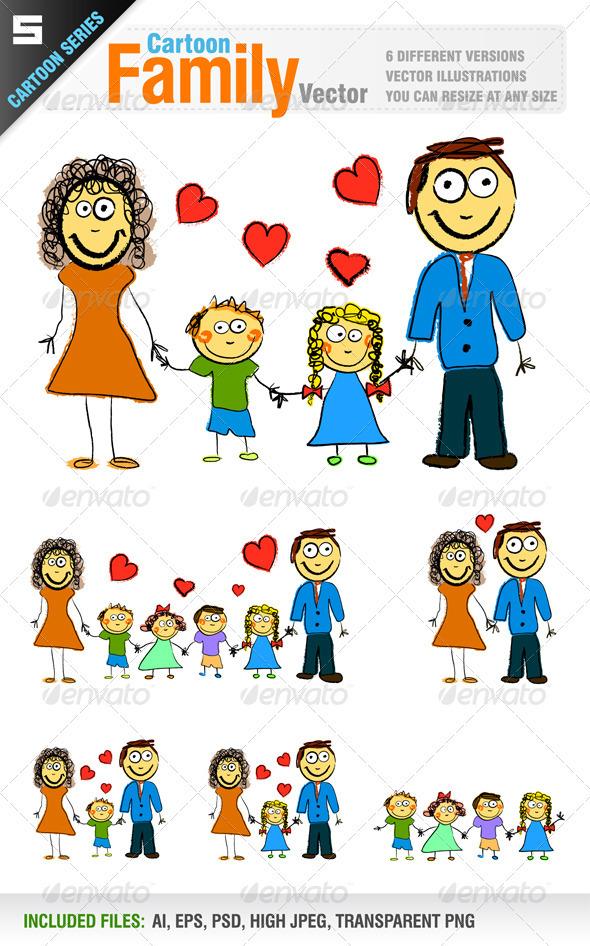 GraphicRiver Happy Family 2817589