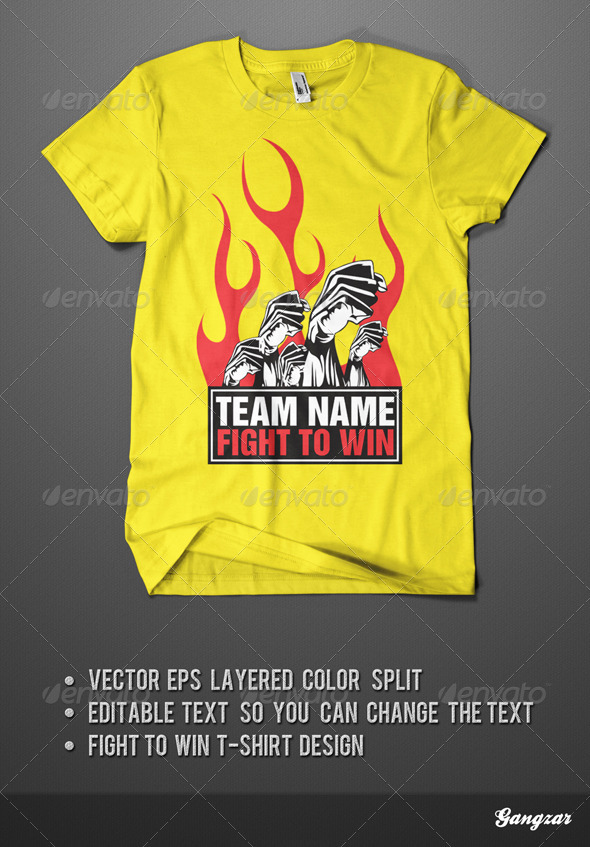 Fight to Win T-Shirt Design - Sports & Teams T-Shirts
