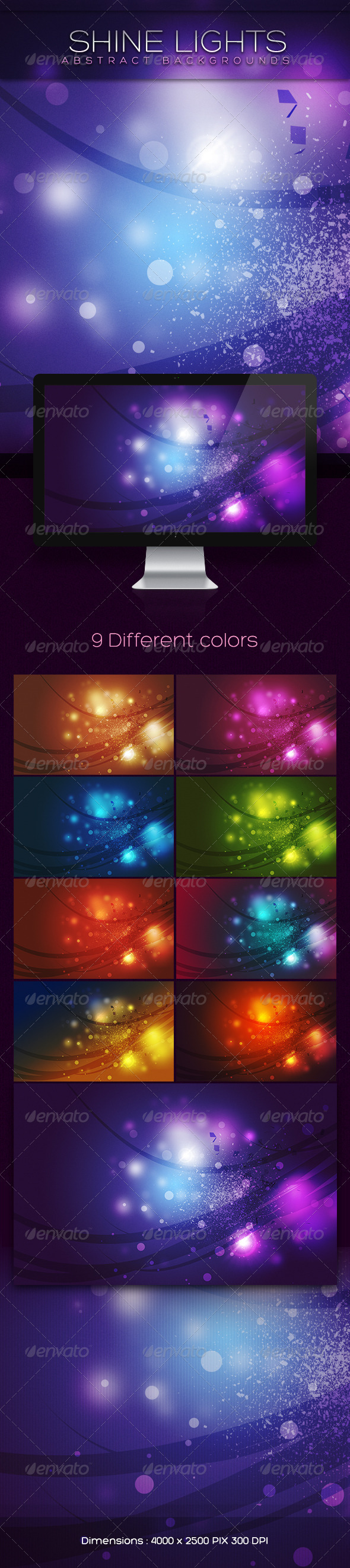 GraphicRiver Shine Lights Abstract Backgrounds 2819401
