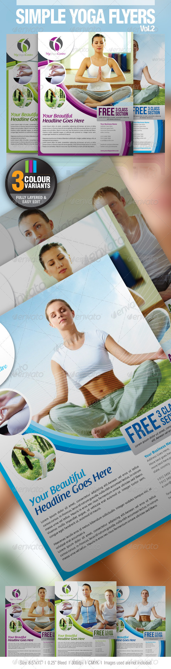 GraphicRiver Simple Yoga Flyer Vol.2 2820260