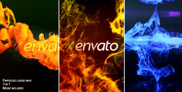 VideoHive Particles logos pack 2820391