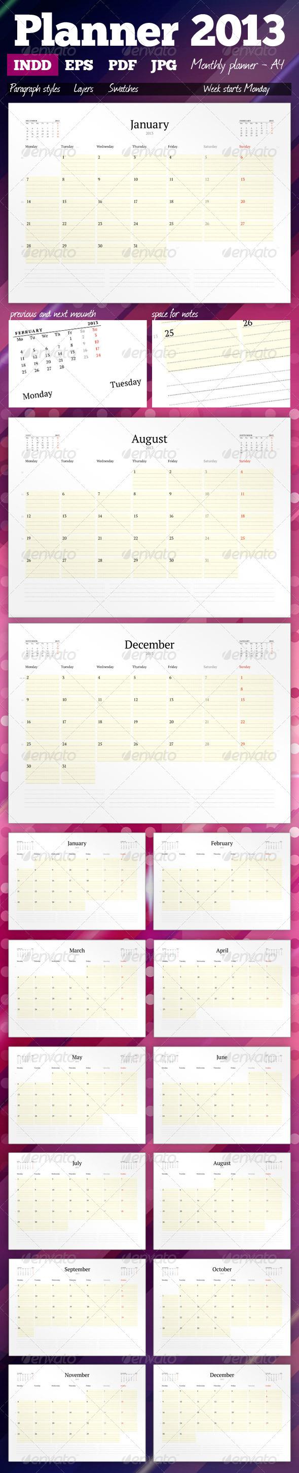 GraphicRiver Planner 2013 2820433