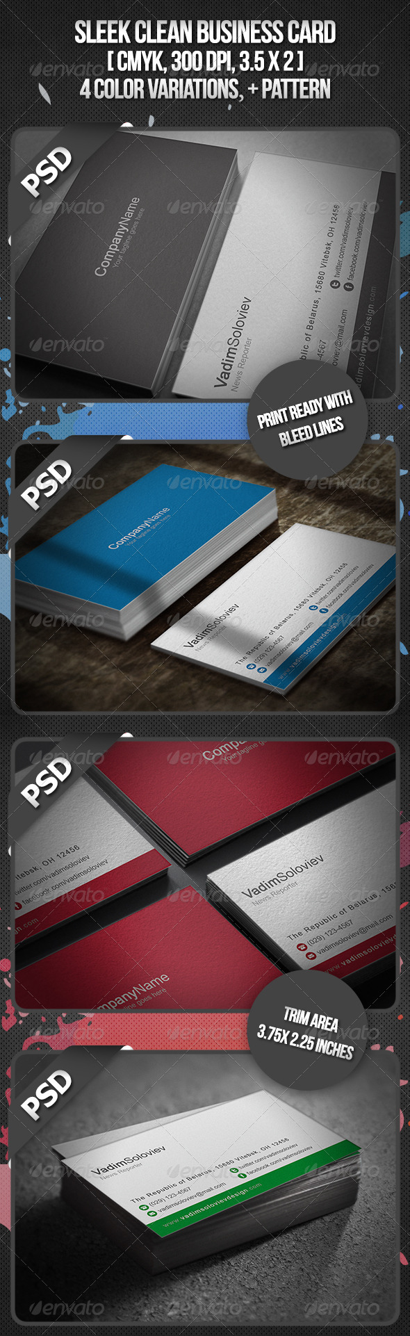 Sleek Business Card - Corporate Business Cards