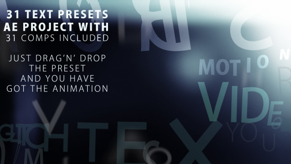 After Effects Project - VideoHive Text presets 2 31 animation presets 28207 ...