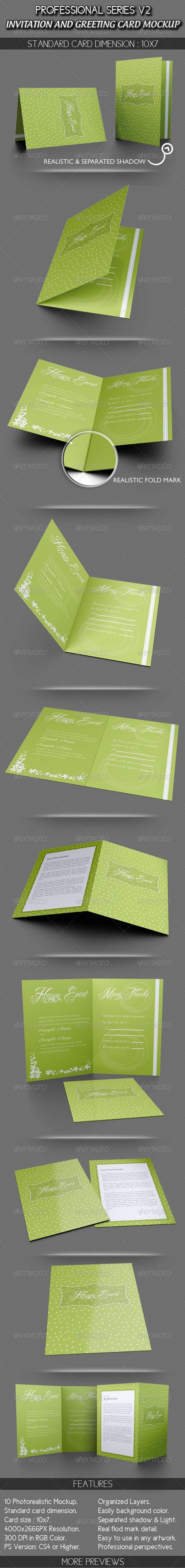 Invitation and Greeting Card Mockup V1 - Miscellaneous Print