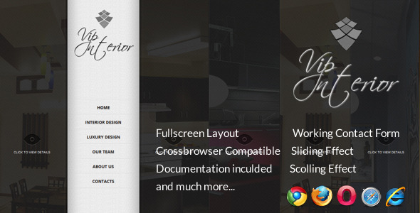 ThemeForest VIP Interior Fullscreen Onepage Template 2821239