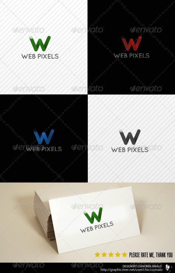 GraphicRiver Web Pixels Logo Template 2801424
