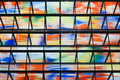 Many colored windows inside a modern building - PhotoDune Item for Sale