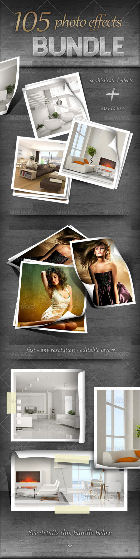 GraphicRiver 105 Photo Effects Bundle 723542