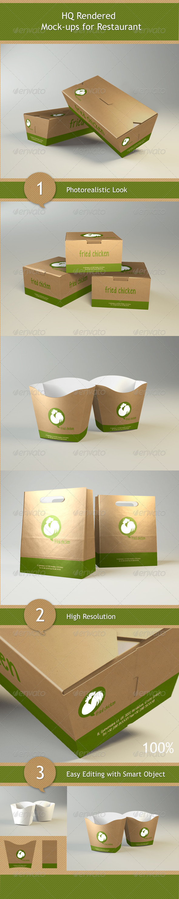 Mock-ups for Restaurant - GraphicRiver Item for Sale
