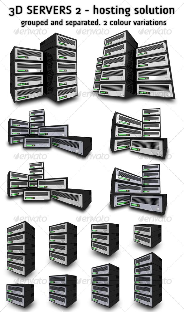 GraphicRiver 3D Servers 2 Ultimate Hosting Solution 98664