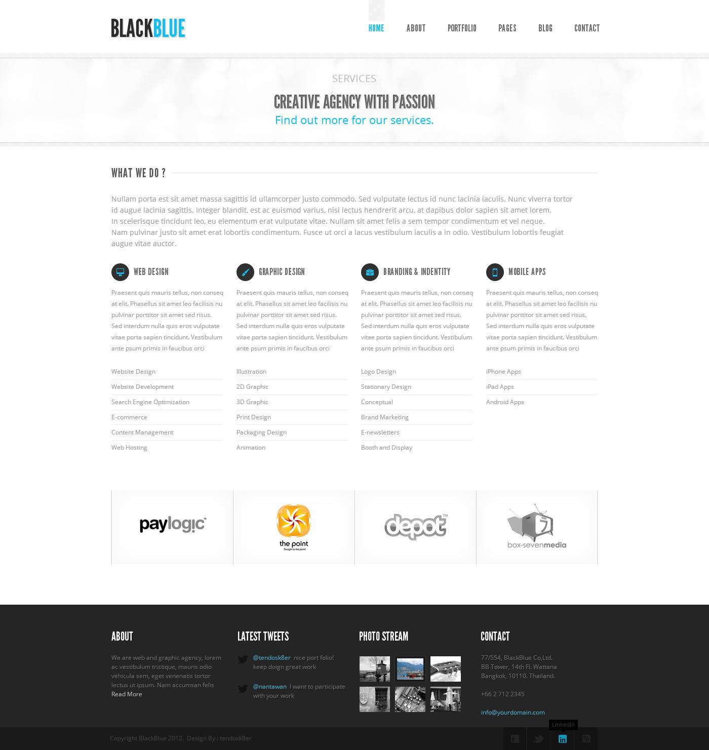BlackBlue - Creative Portfolio PSD Template