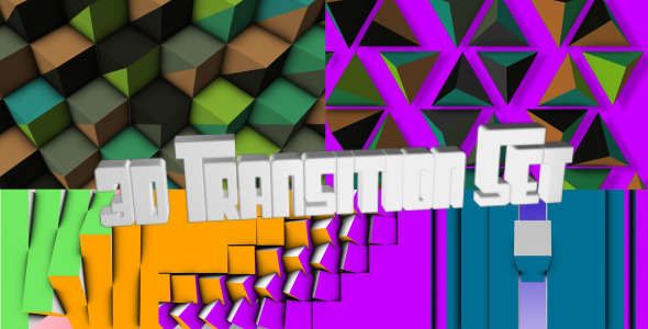 After Effects Project - VideoHive 3D Transitions Set 302577