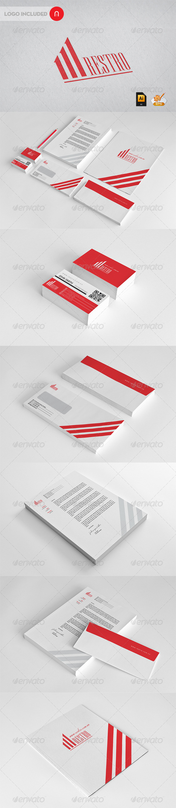 Restro Corporate Identity - Stationery Print Templates
