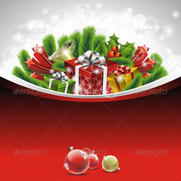 Vector illustration on a Christmas theme. - Christmas Seasons/Holidays
