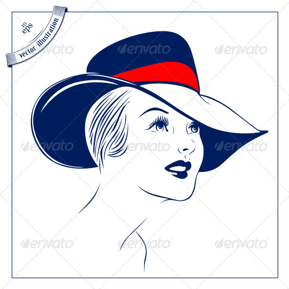 GraphicRiver Women With The Hat 2824283