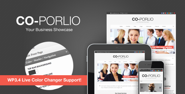 Co-Porlio: Feature Rich Wordpress Theme  - introduction