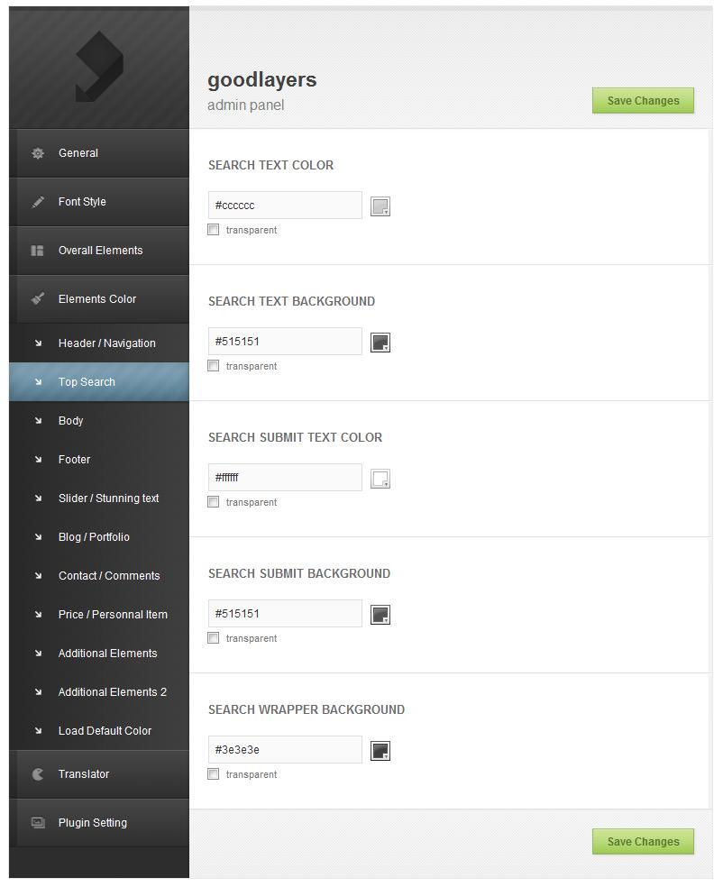 Co-Porlio: Feature Rich Wordpress Theme  - adminpanel